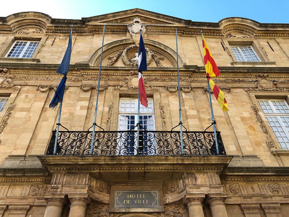 The Hotel de Ville at Aix-en-Provence