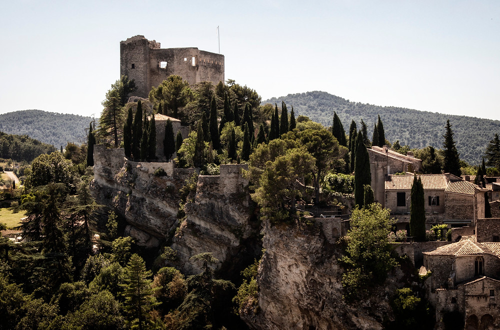 The chateau, towering above medieval Vaison-la-Romaine
