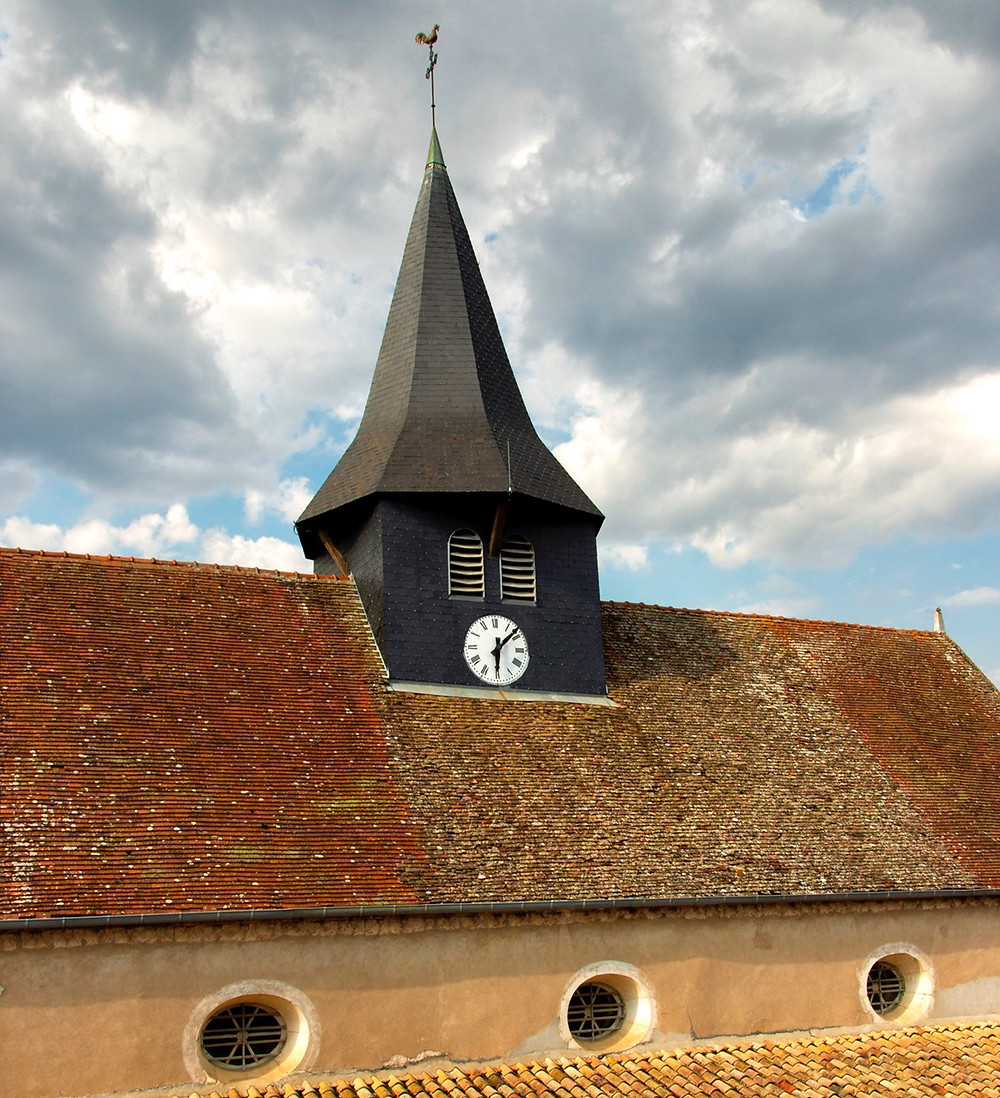 The clock tower, viewed from our rooftop terrace