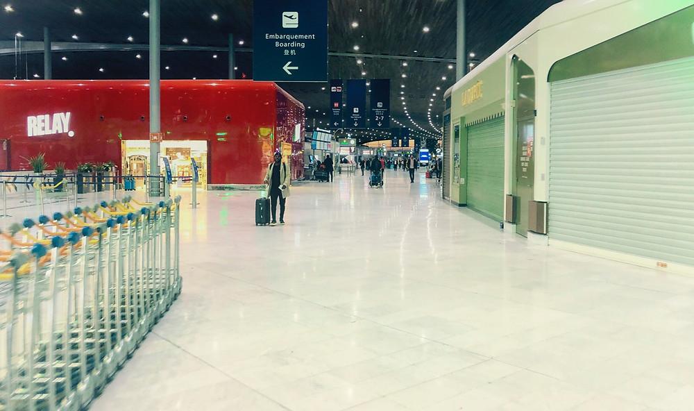 Terminal 2E, Air France central, at Charles de Gaulle airport