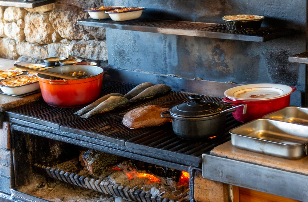 Wood-fired cookery at La Bergerie