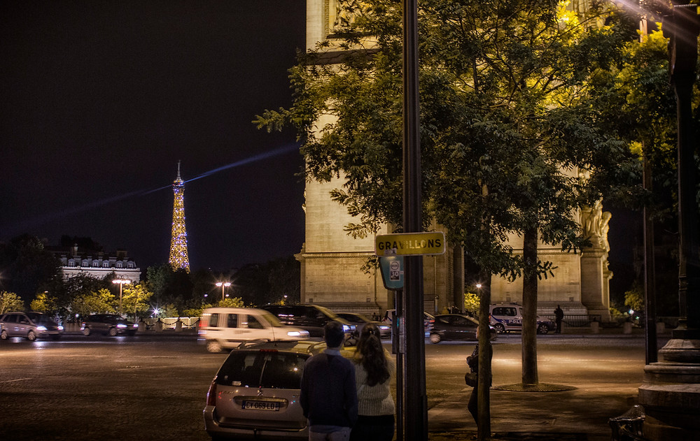 L'Arc de Triomphe, at the end of Champs-Élysées