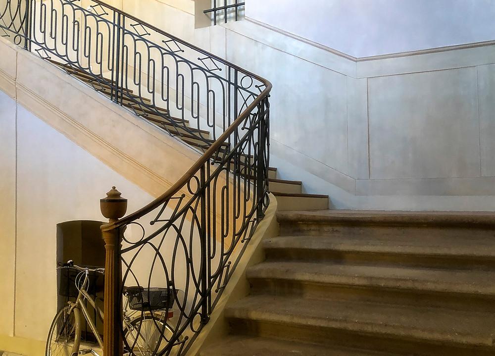 The grand staircase at Rue de l'Opera