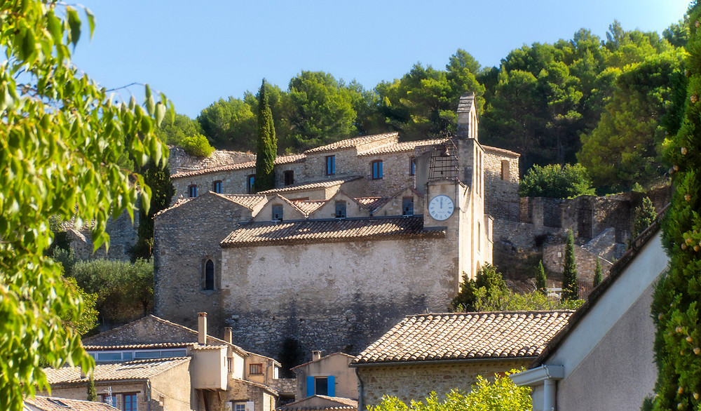 A view on the upper village at Gigondas