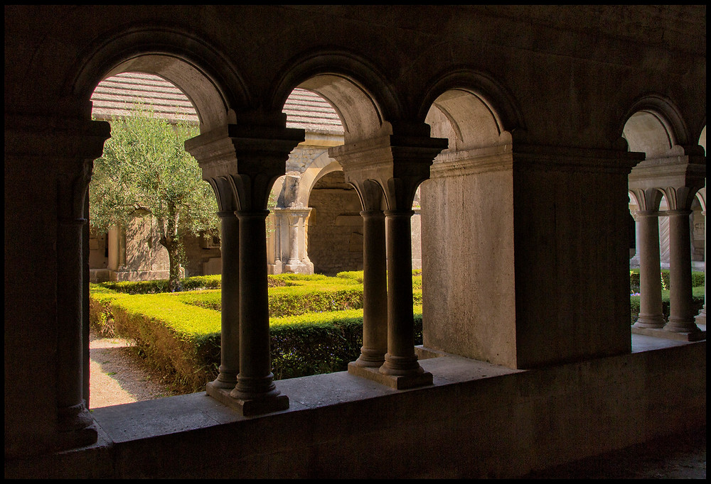 The cloister and courtyard garden