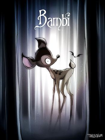bambi burton style