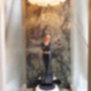 Figurine Manara Marcella abat-jour en pâte de verre