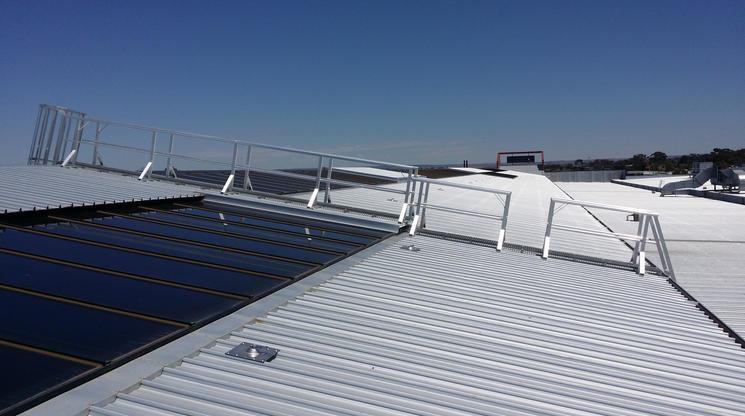 Roof Walkway Systems. Roof Guard Rails.