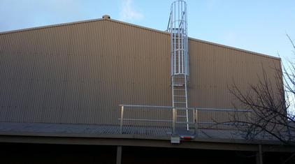 Fixed Access Ladder. Caged Ladder. Vertical Ladder.