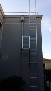Fixed Access Ladder. Vertical Ladder.