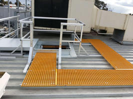 Roof Access Hatch. Roof Walkway. Roof Guard Rails