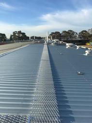 Aluminium Roof Walkway.