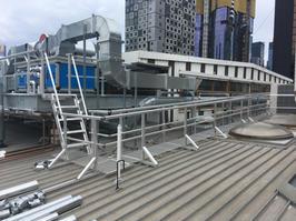 Roof Walkway. Roof Guard Rails. Fixed Access Steps.