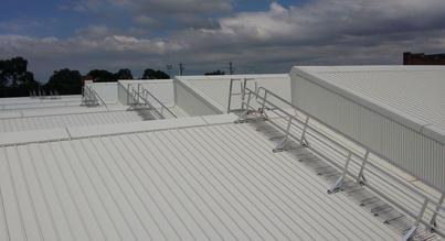 Roof Walkways. Roof Guard Rails.