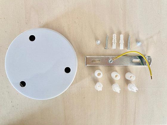 Ceiling cap metal for 3 lamps