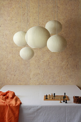 Set of 5 Pura lamps, organic