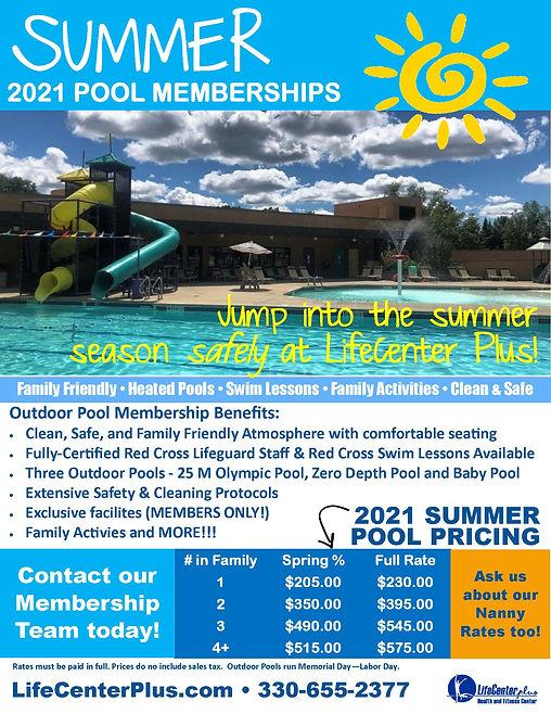 Outdoor Pool 2021 Memberships