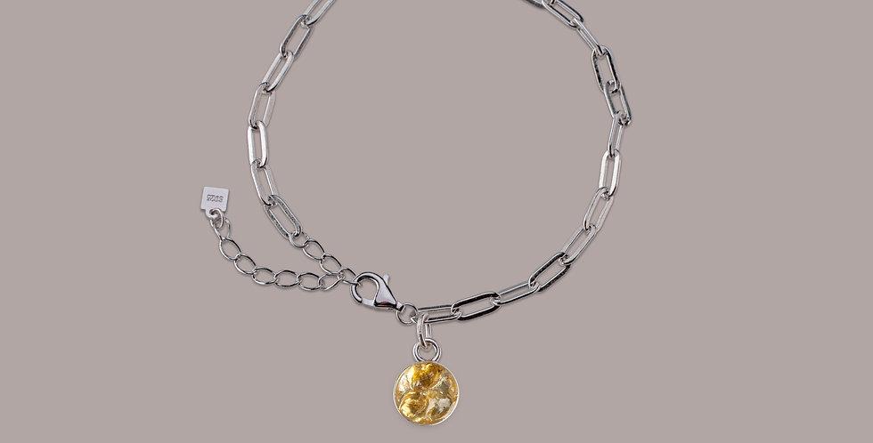 Bracelet Silver - Citrín