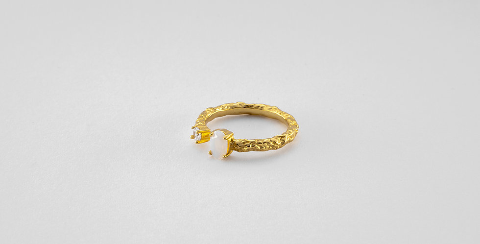 Opalit ring gold