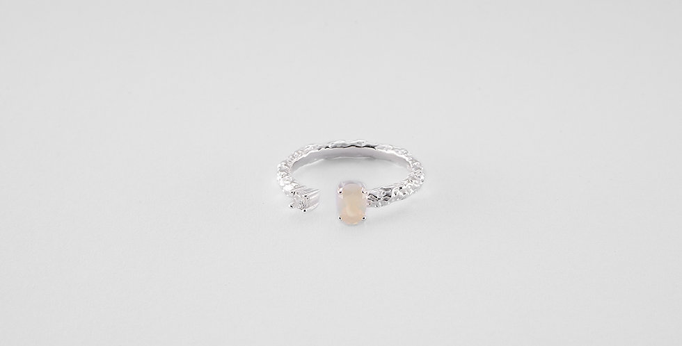 Opalit ring silver