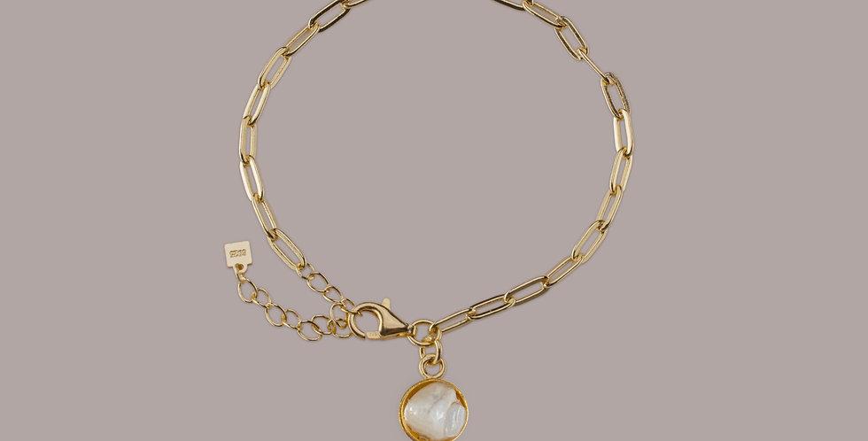 Bracelet Gold - Achát