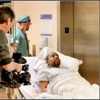 """On location for """"Stay Aubrey!"""" at St Michael's Hospital. 2012."""