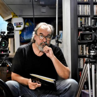 "Vladimir Kabelik on location for ""Stay Aubrey!""."
