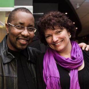 """Aubrey and Julie Dayle at world premeire of """"Stay Aubrey!"""". TIFF Bell Lighbox. 2014."""