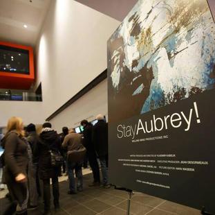 "Premeire of ""Stay Aubrey!"" at TIFF Bell Lighbox. 2014"