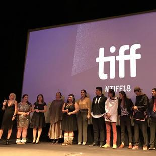 "Cast from""The Grizzlies"" directed by Miranda de Pencier. Winter Garden Theatre. TIFF 2018."