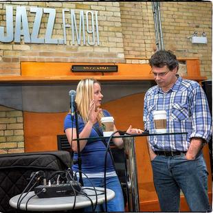 "Aleksandra Lason on location at Jazz FM.91 for ""Stay Aubrey!"""