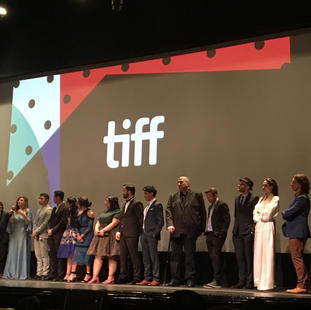 """Angelina Jolie, Norma Twomey and cast at world premiere of """"The Breadwinner"""". at Winter Garden Theatre. TIFF 2017"""