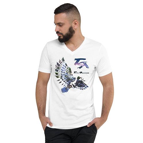 Dancing native bird V-Neck T-Shirt