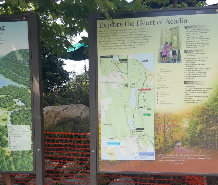 Information on Jordan Pond in Acadia National Park, ME.