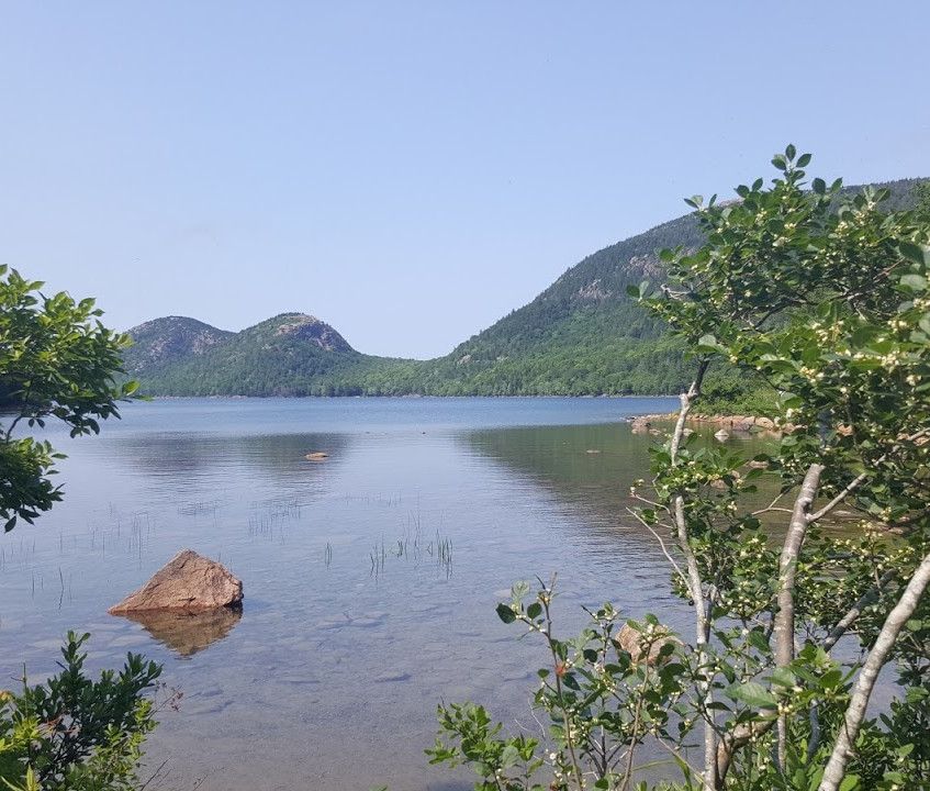 A view of Jordan Pond in Acadia National Park, ME.