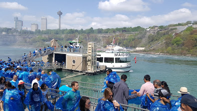 Getting ready to board the Maid of the Mist! Avoid wearing nice shoes! :P