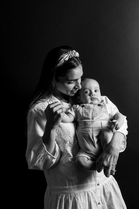 shooting photo studio famille naissance