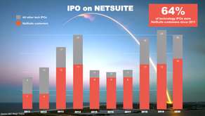 Why 64% of Tech IPO companies choose NetSuite for their cloud ERP system?