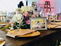 Wedding Table Setting & Centerpieces