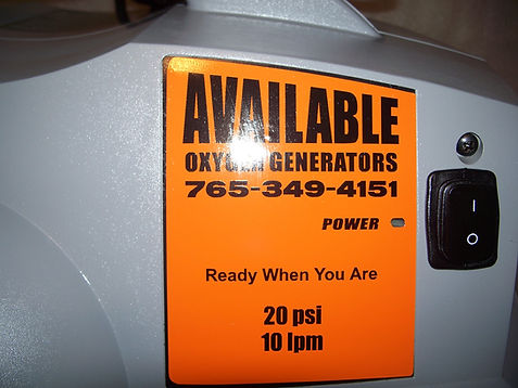 Available Oxygen oxygen concentrator