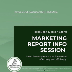 BUS1220 Marketing Report Info Session