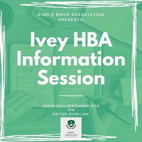 Ivey's HBA Info session