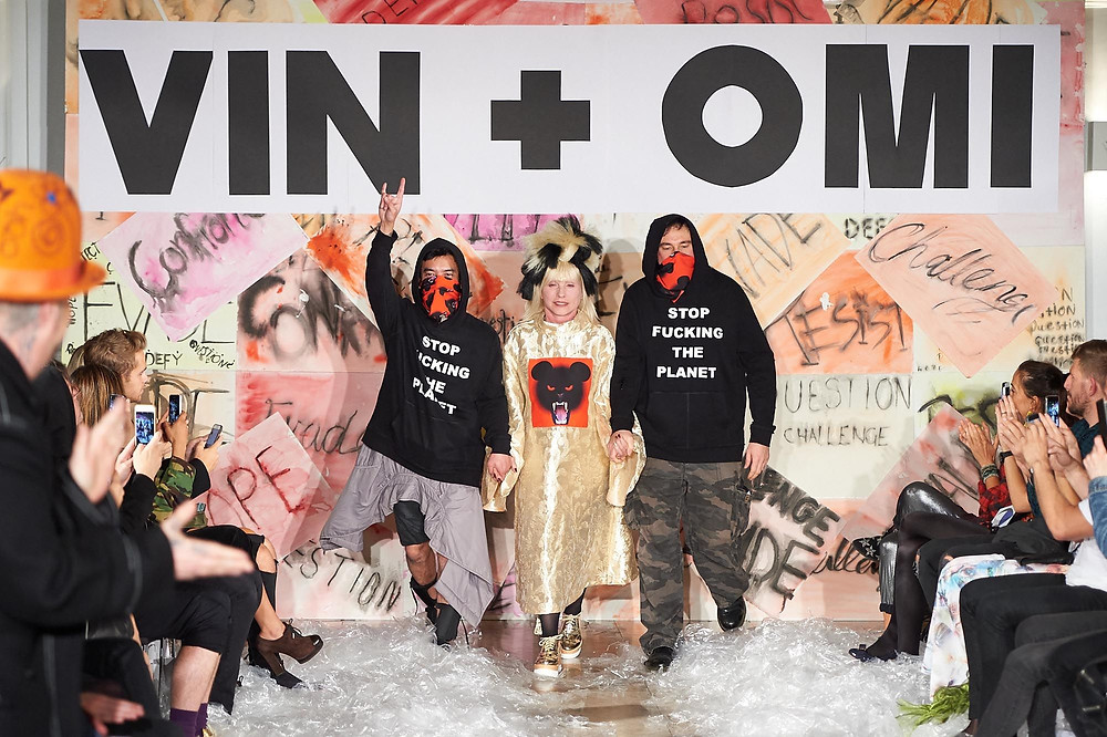 VIN+OMI and Debbie Harry at London Fashion Week