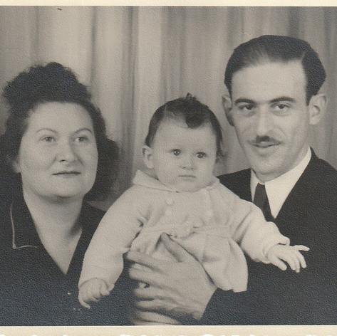 Myra & Joseph holding Frieda
