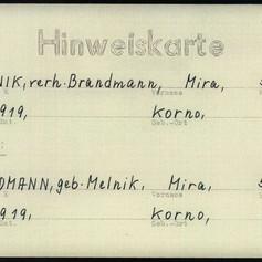 Mira's Identity Card (Neustadt DP Camp)