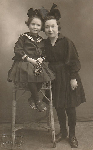 Myra Melnik on left & older sister, Hada