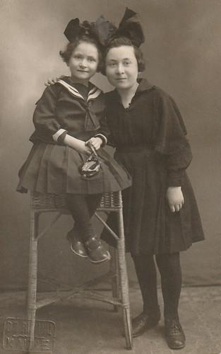 Myra Melnik on left & older sister, Hada