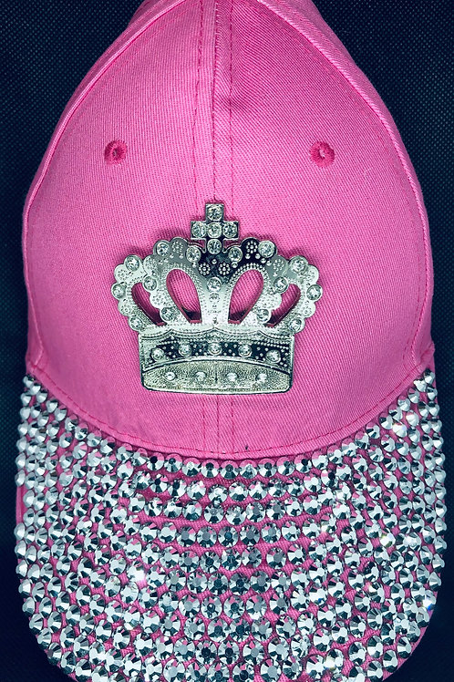 Pink Full Bling Crown Cap
