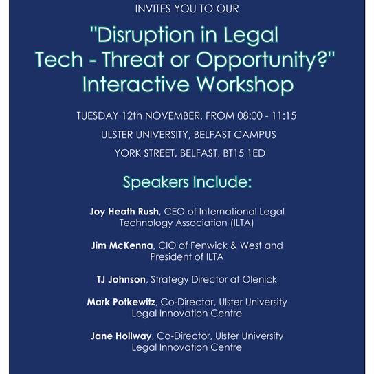 Disruption in Legal Tech - Threat or Opportunity? - Interactive Workshop