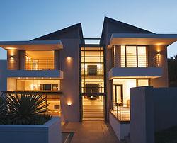 Illuminated multi storey house